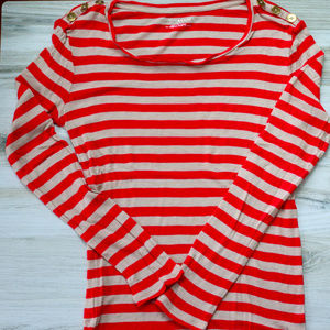 Ann Taylor Striped Sweater Shirt